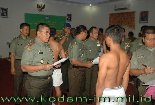 Pangdam IM pimpin sidang Pantukhir Catar Akmil 2014