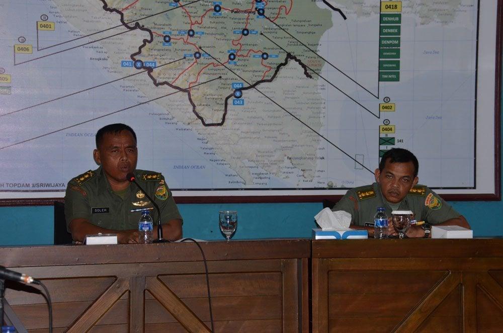KASREM 044/GAPO PIMPIN RAPAT INVENTARISASI ASET TNI AD DI WILAYAH KOREM 044/GAPO