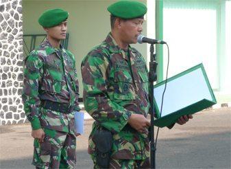 Wakil Komandan Detasemen Markas Kodiklat TNI AD pimpin upacara pembukaan Latsat Tonwal Denma Kodiklat TNI AD