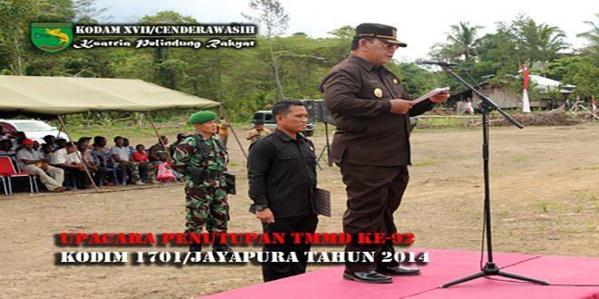 Upacara Penutupan TMMD Ke-92 Kodim 1701/ Jayapura