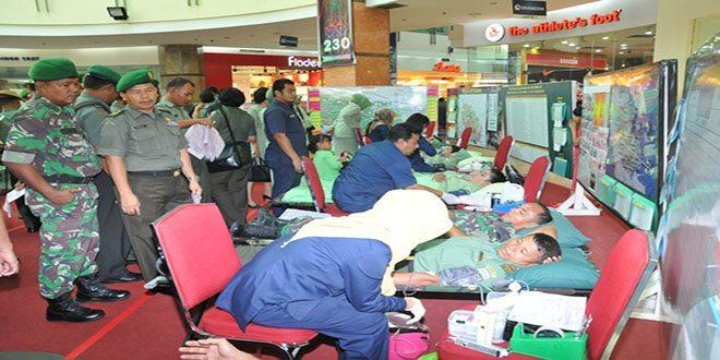 Donor Darah Dalam Rangka HUT Ke-64 Kodam I/Bukit Barisan
