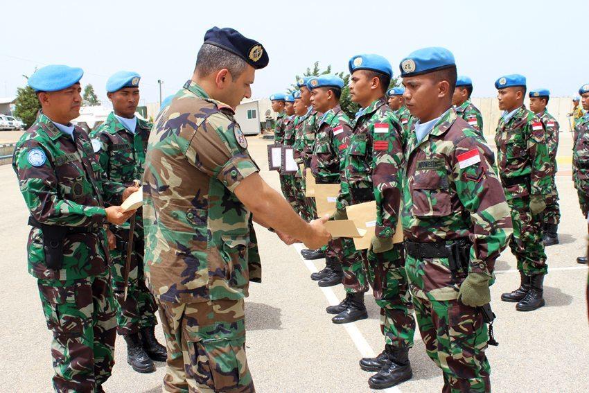 20 Prajurit TNI Satgas Indobatt Terima Penghargaan dari LAF