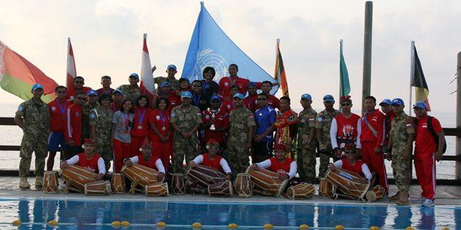 Satgas Indobatt Juara Umum II Kompetisi Renang UNIFIL 2014
