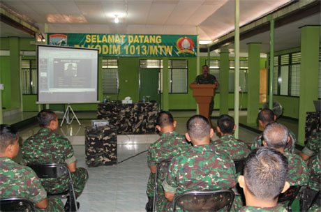 Danrem, Berikan Arahan Prajurit TNI dan PNS Kodim 1013/Mtw