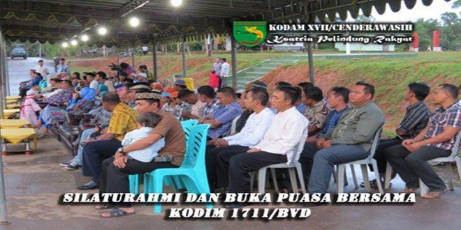 Kodim 1711/BVD Menyelenggarakan Silaturahmi dan Buka Puasa Bersama