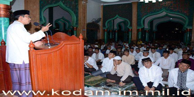 Kodam IM Peringati Nuzulul Qur'an