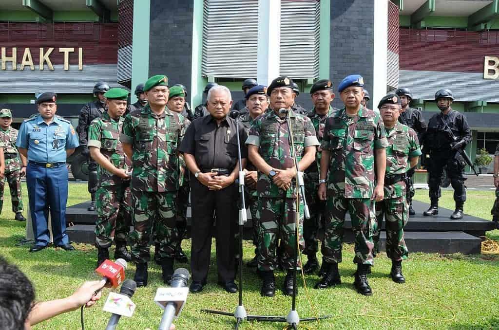 Panglima TNI bersama Menhan Pantau Pengamanan Pilpresdi Kodam Jaya