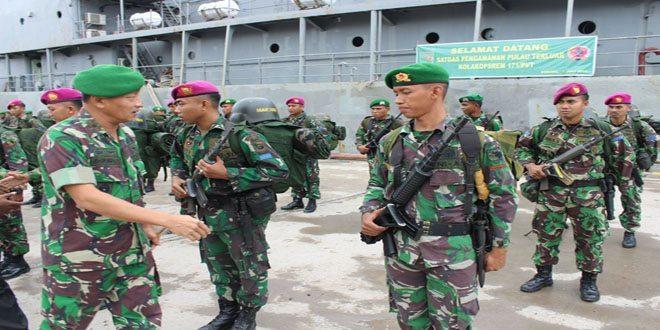 Danrem 171/PVT Menghadiri Upacara Penyambutan Satgas Pulau Terluar