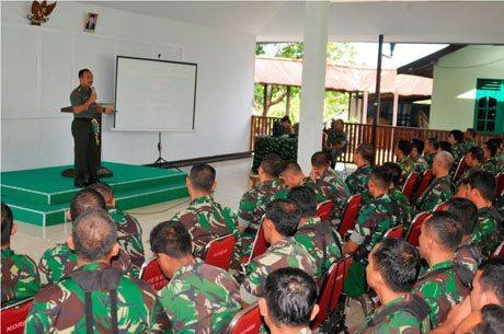 Kegaiatan Binter dan Bintal TNI AD