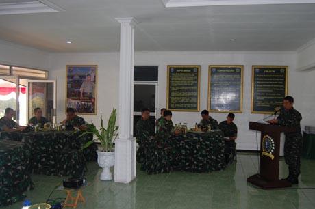 Wasrik Itjen TNI Kunjungi Korem 121/Abw