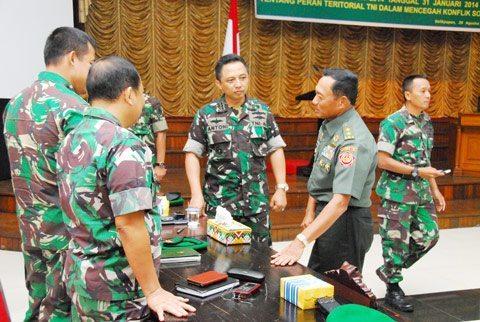 Kodam VI/Mlw Sosialisasikan Perpang TNI No. 1 Thn 2014