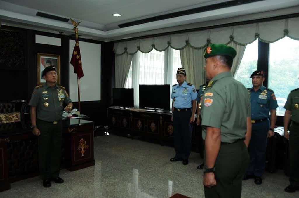 Panglima TNI Terima Laporan Korps Kenaikan Pangkat Kasad