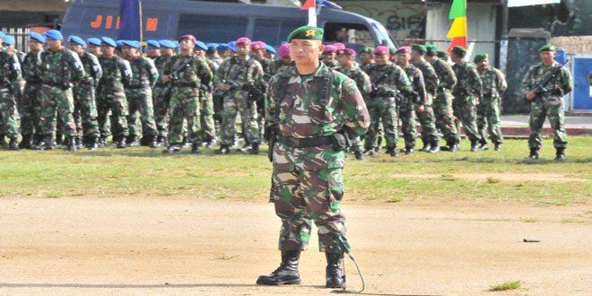 Kasi Ops Rem 171/PVT Pimpin Apel Gelar Pasukan Dalam Rangka Pengamanan Presiden RI Dalam Rangka Sail Raja Ampat