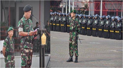 Pangdam Jaya Dampingi Panglima TNI Dalam Rangka Apel Gelar Pasukan Jelang Putusan Pilpres