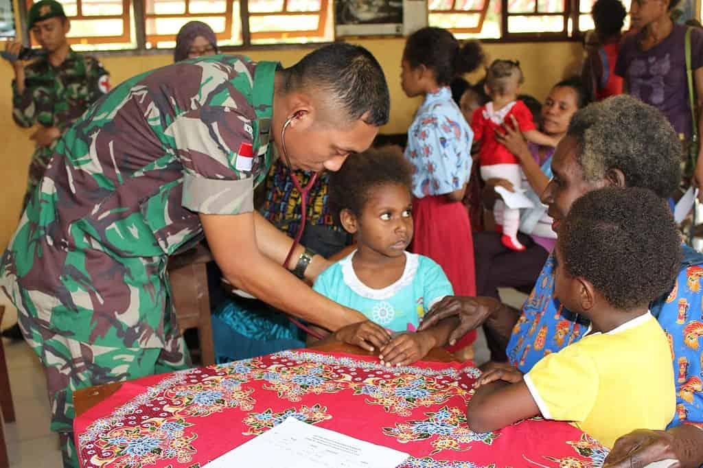 400 Masyarakat Perbatasan RI-PNG Ikut Kegiatan Terpadu Memeperingati HUT ke-69 RI