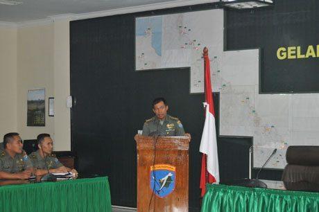 Aspers Kasdam XII/Tanjungpura Bekali Casis Dikreg Seskoad TA. 2015