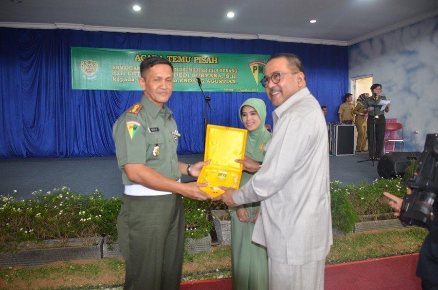 TEMU PISAH KOMANDAN DETASEMEN POLISI MILITER (DAN DENPOM) III/4 SERANG