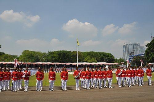 Pangdam Tinjau Gladi Bersih Pengibaran Bendera 17 Agustus