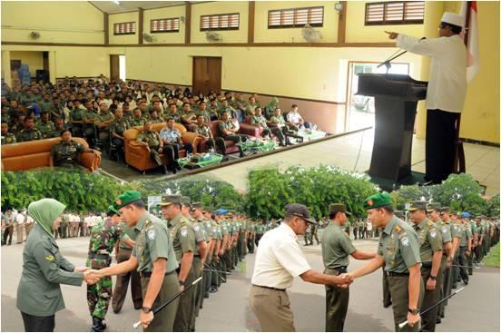 DANREM 011 HALAL BIHALAL DENGAN PRAJURIT DAN PNS TNI