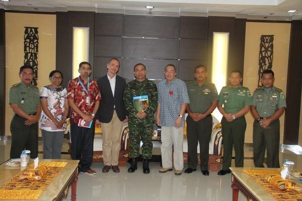 WAKIL KEPALA PERWAKILAN UNICEF INDONESIA MELAKSANAKAN KUNJUNGAN KE KODAM XVII/CENDERAWASIH