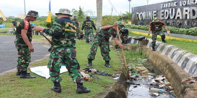Karya Bakti Gabungan TNI di Taman Makam Pahlawan Dalam Rangka Menyambut HUT RI Tahun 2014