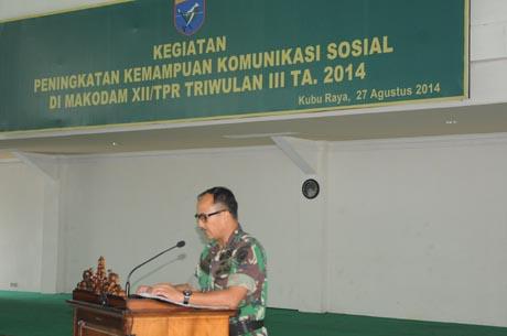 Kodam XII/Tanjungpura Sosialisasi Peningkatan Kemampuan Komunikasi Sosial