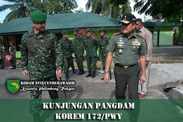 Kunjungan Pangdam XVII/Cenderawasih ke Korem 172/PWY