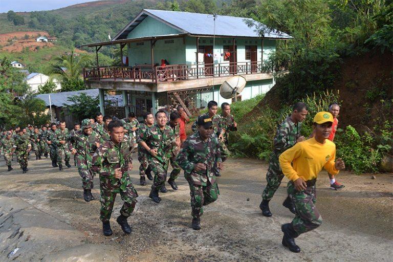 Lari Jalanan Dalam Mengisi Kegiatan Minggu Militer