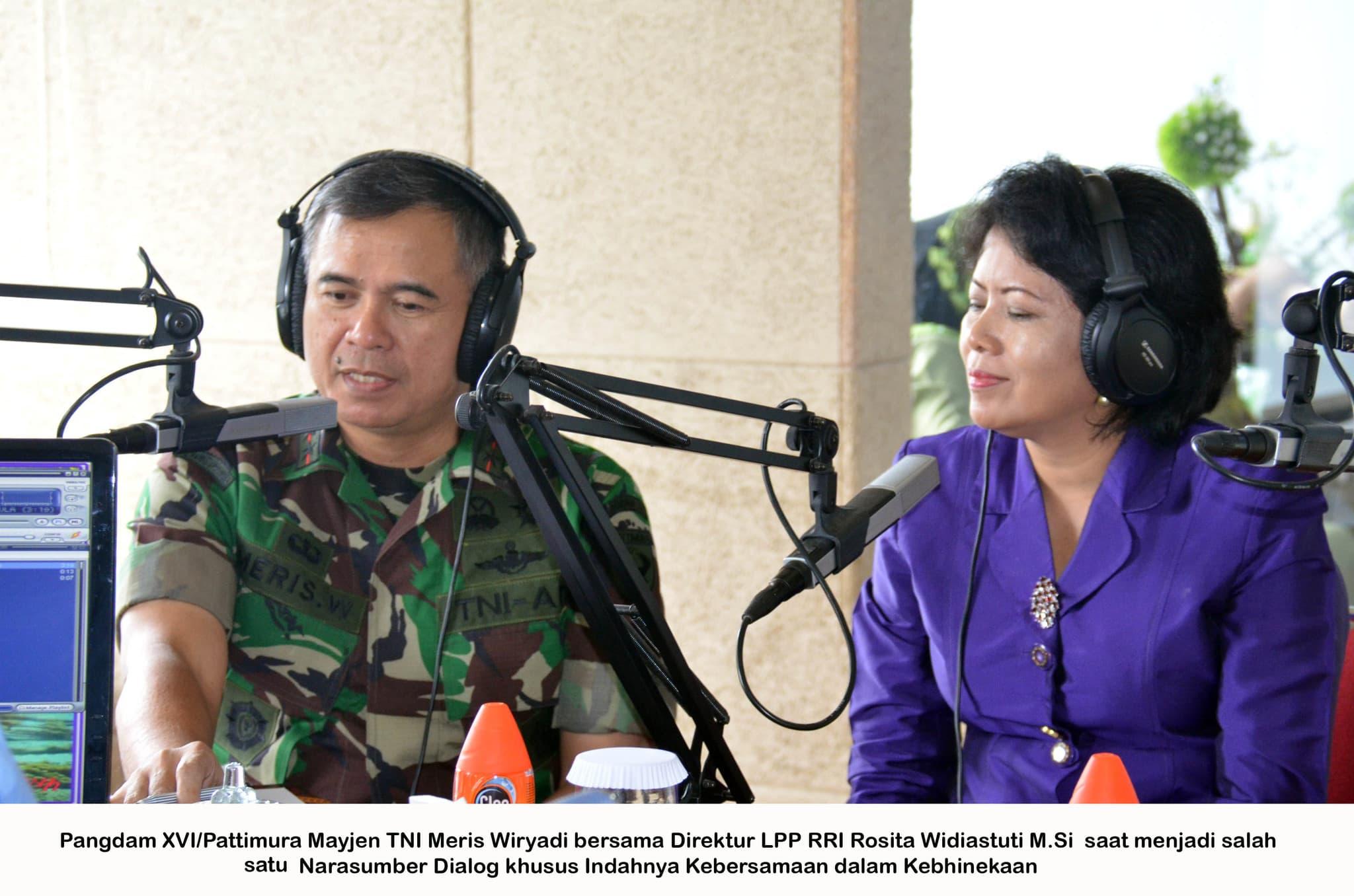 Dialog Interaktif Indahnya Kebersamaan Dalam Kebhinekaan Di RRI Maluku Bersama Mayjen TNI Meris Wiryadi