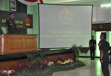 Komandan Kodiklat TNI AD Buka Pendidikan Sarcab TNI AD TA.2014
