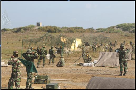 Yonarmed 11/1/2 Kostrad Melaksanakan Latihan Menembak Senjata Berat TA.2014 Di Ambal Kebumen