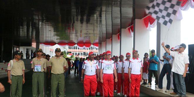 41 Tim Meriahkan Gerak Jalan 17 Km di Papua