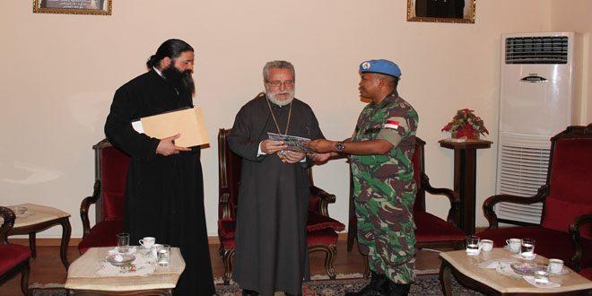 Donasi Kontingen Garuda Kepada Greek Ortharchdiocese di Marjayoun