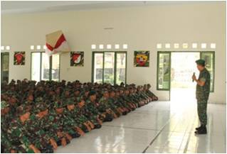KUNJUNGAN PANGDAM IX/UDAYANA KE YONIF 744/SYBMayjen TNI