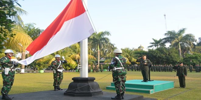 Peringatan Kemerdekaan RI Ke-69 di Korem 051/Wkt