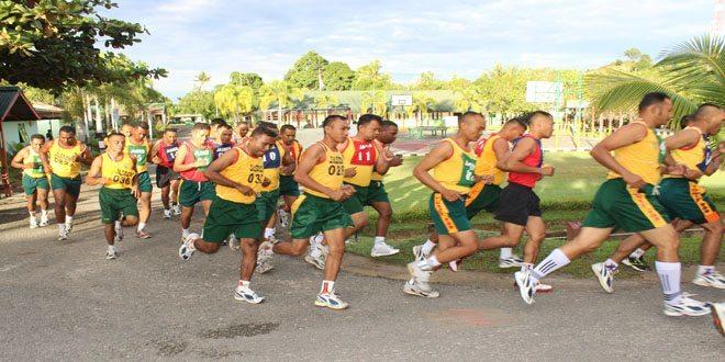 Prajurit Jajaran Korem 171/Pvt Mengikuti Seleksi Kesemaptaan Jasmani Secaba Reg Tahun 2014