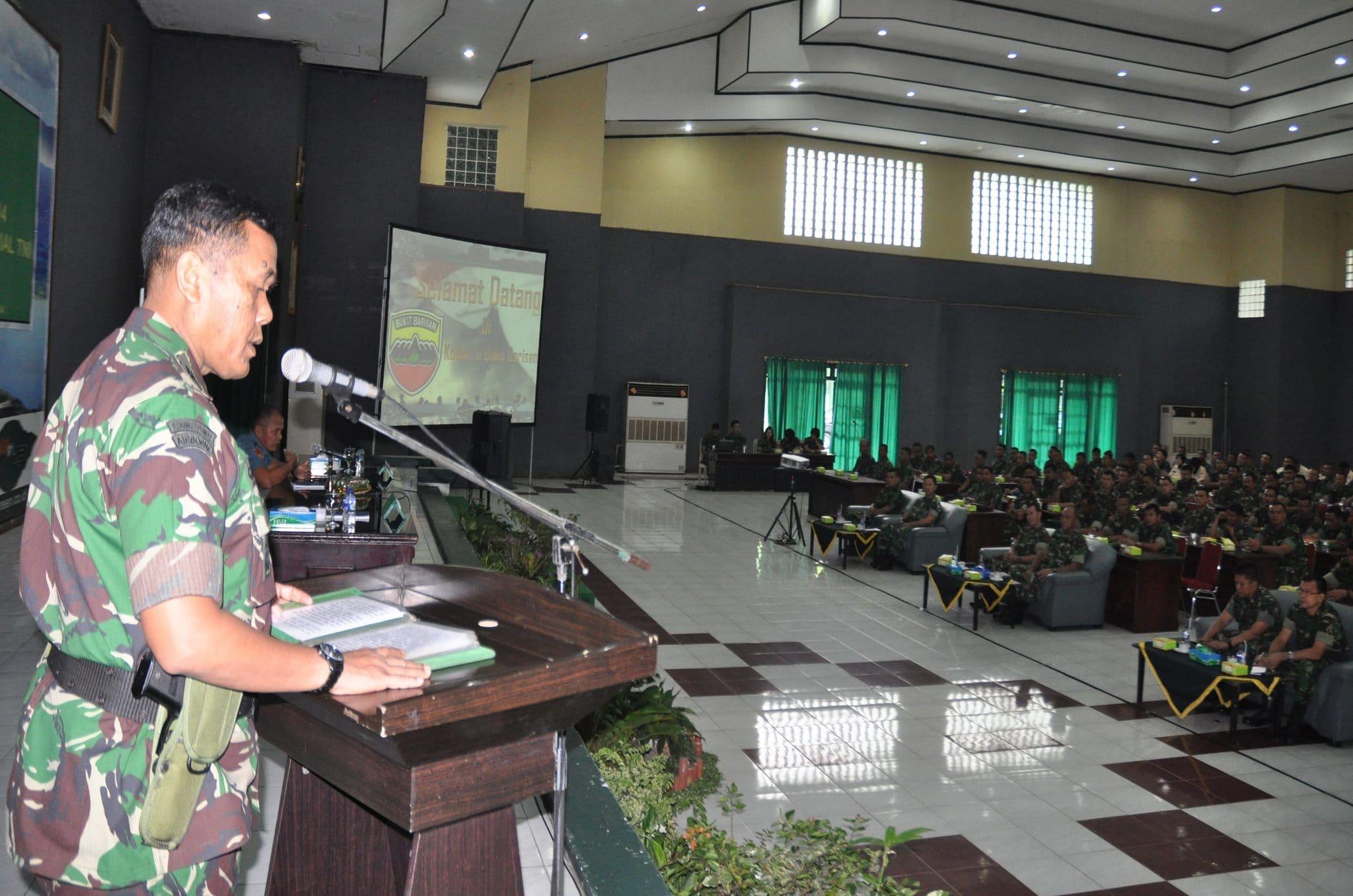Kodam I/BB Terima Sosialisasi Peraturan Panglima TNI Nomor 1 Tahun 2014