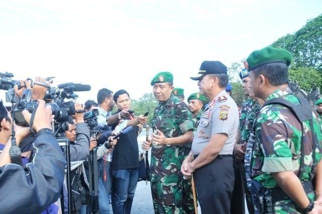 APEL GELAR PASUKAN GABUNGAN TNI POLRI DALAM RANGKA ANTISIPASI KEPUTUSAN MK
