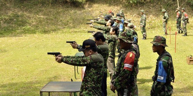 Korem 071/Wk Latihan Menembak Bersama Forkompinda Banyumas