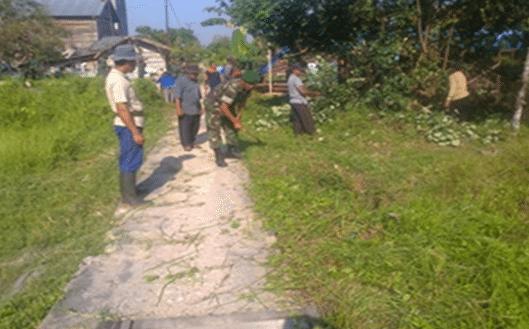 Karya Bhakti TNI Kodim 1011/Klk Dalam Rangka Serbuan Teritorial 2014