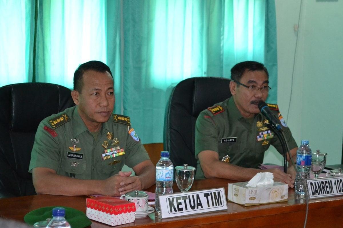 Tim Wasrik Itdam XII/Tpr Laksanakan Pengawasan dan Pemeriksaan di Makorem 102/Pjg