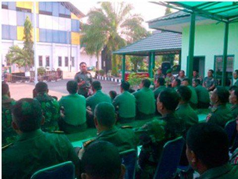 Dandim 1004/Kotabaru Memberikan Pengarahan Kepada Prajurit Dan PNS Kodim 1004/Ktb