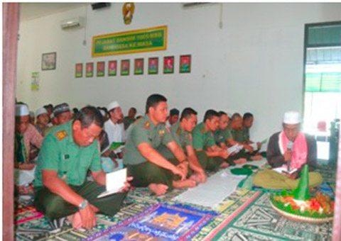 Kodim 1005/Marabahan Melaksanakan Sholat Hajat Dan Doa Bersama