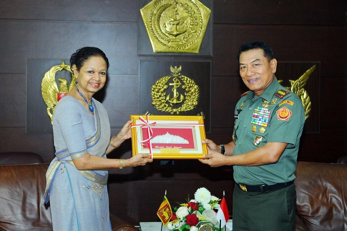 Panglima TNI Terima Kunjungan Dubes Srilangka