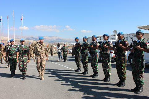 Mayor Jenderal Luciano Portolano Kunjungi Prajurit TNI di Lebanon