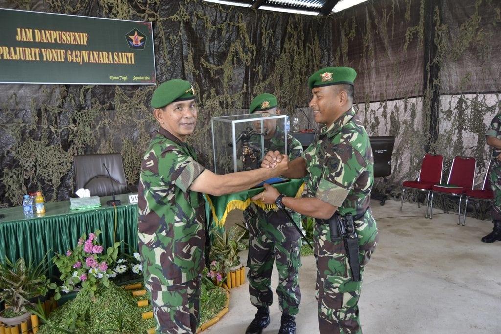 Danpussenif TNI AD Uji Petik Pelaksanaan Garjas Yonif 641/Raider