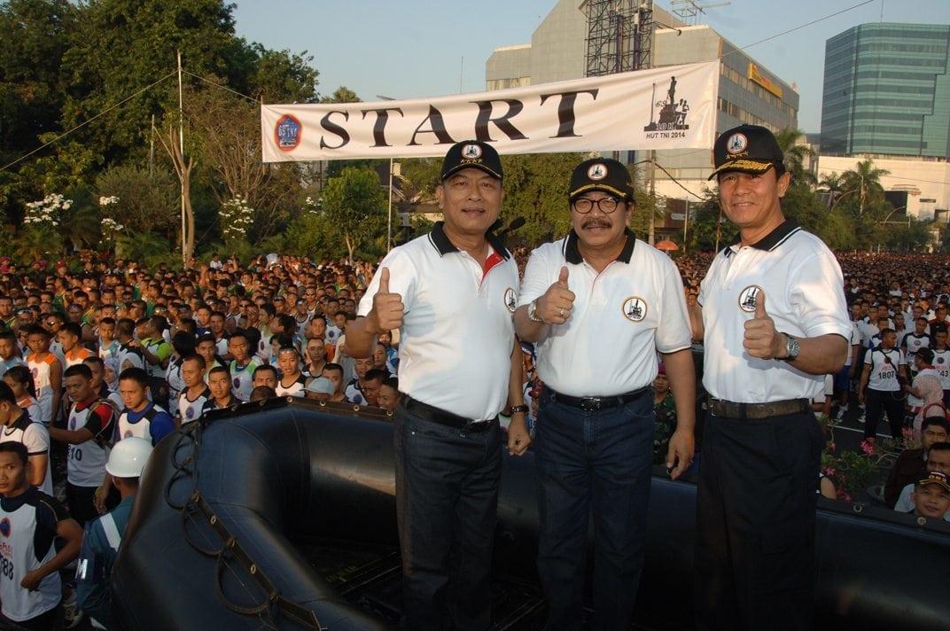 Panglima TNI Lepas Lomba lari 10 K Hari Jadi TNI ke 69 tahun 2014