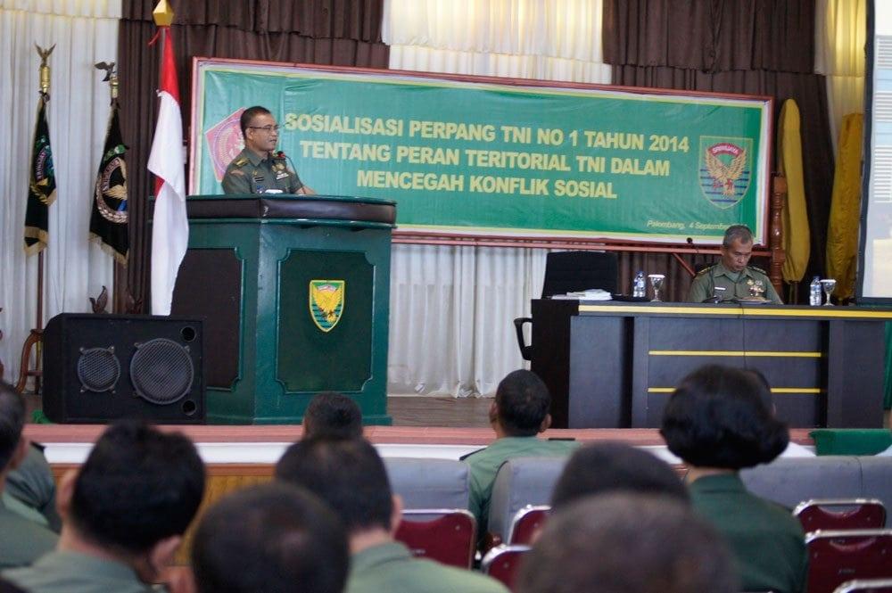 MABES TNI SOSIALISASIKAN ATURAN TNI CEGAH KONFLIK SOSIAL