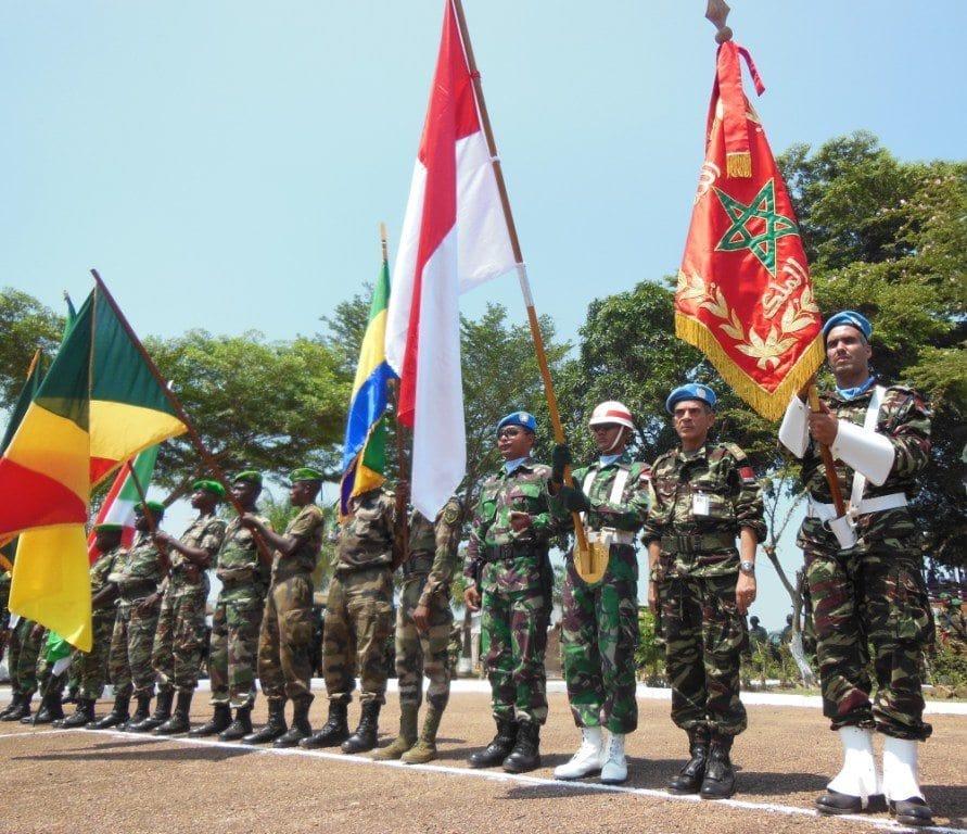 Satgas Kizi TNI Tampil Bagian Proses Perdamaian di Afrika