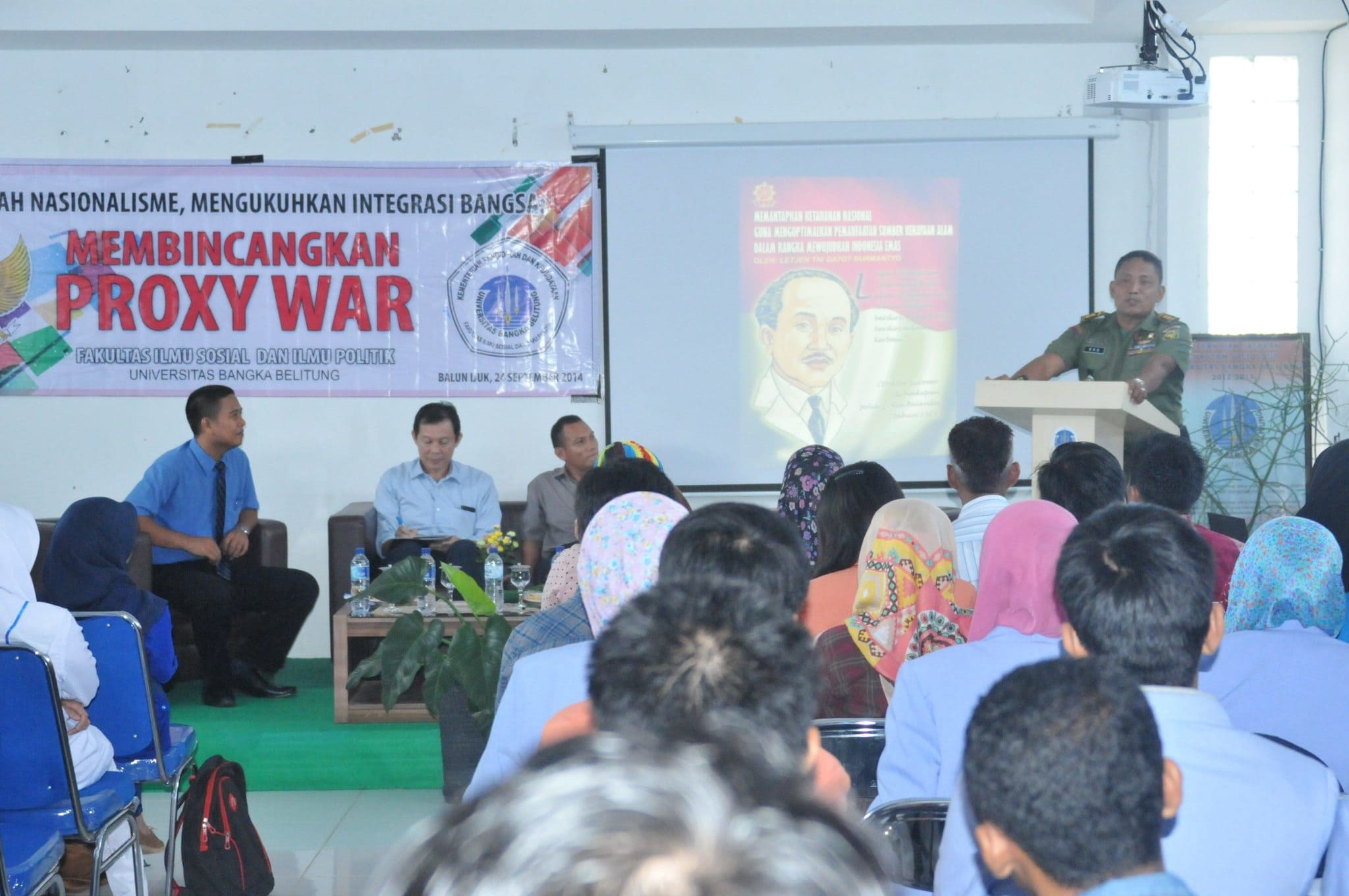 Kasrem Berbicara Proxy War Kepada Mahasiswa UBB